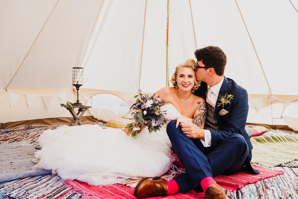 Bell Tent Tipi Camping Godwick Hall Wedding Rob Dodsworth Photography