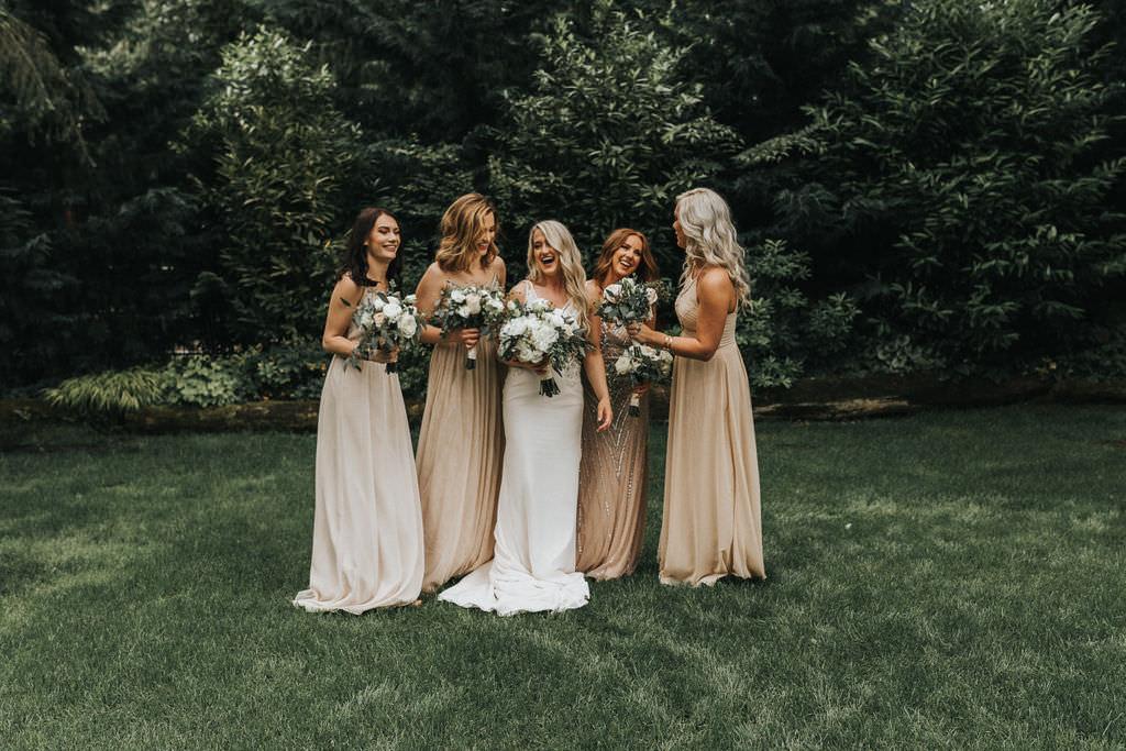 Bridesmaids Dress Dresses Blush Long Maxi Greenhouse Garden Washington Wedding Beginning and End Photography