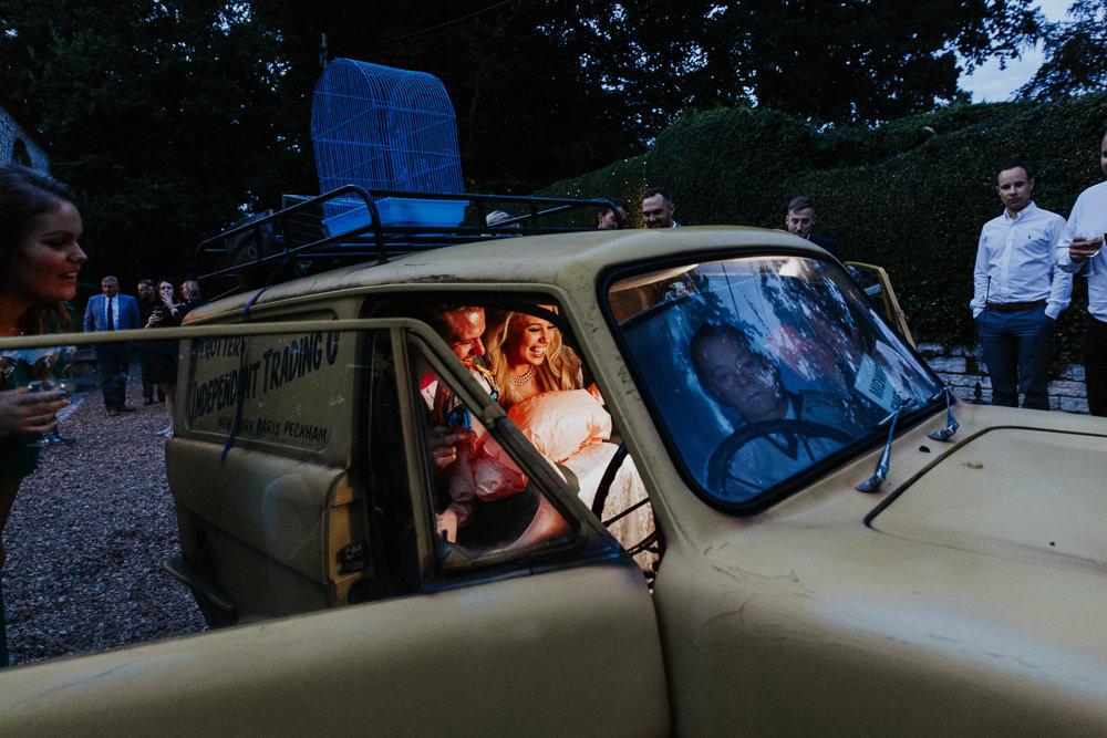 Del Boy Photo Booth Car Pennard House Wedding Oxi Photography