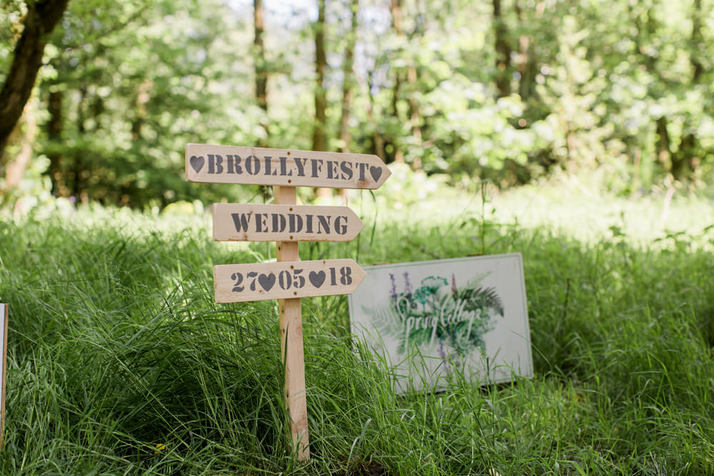 Festival Sign Wooden Direction Welcome Spring Cottage Rivington Wedding Emma B Photography
