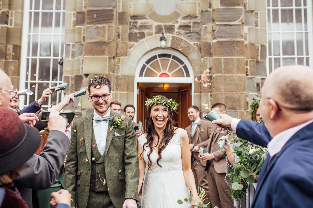 Confetti Throw Druidstone Wedding Florence Fox Photography