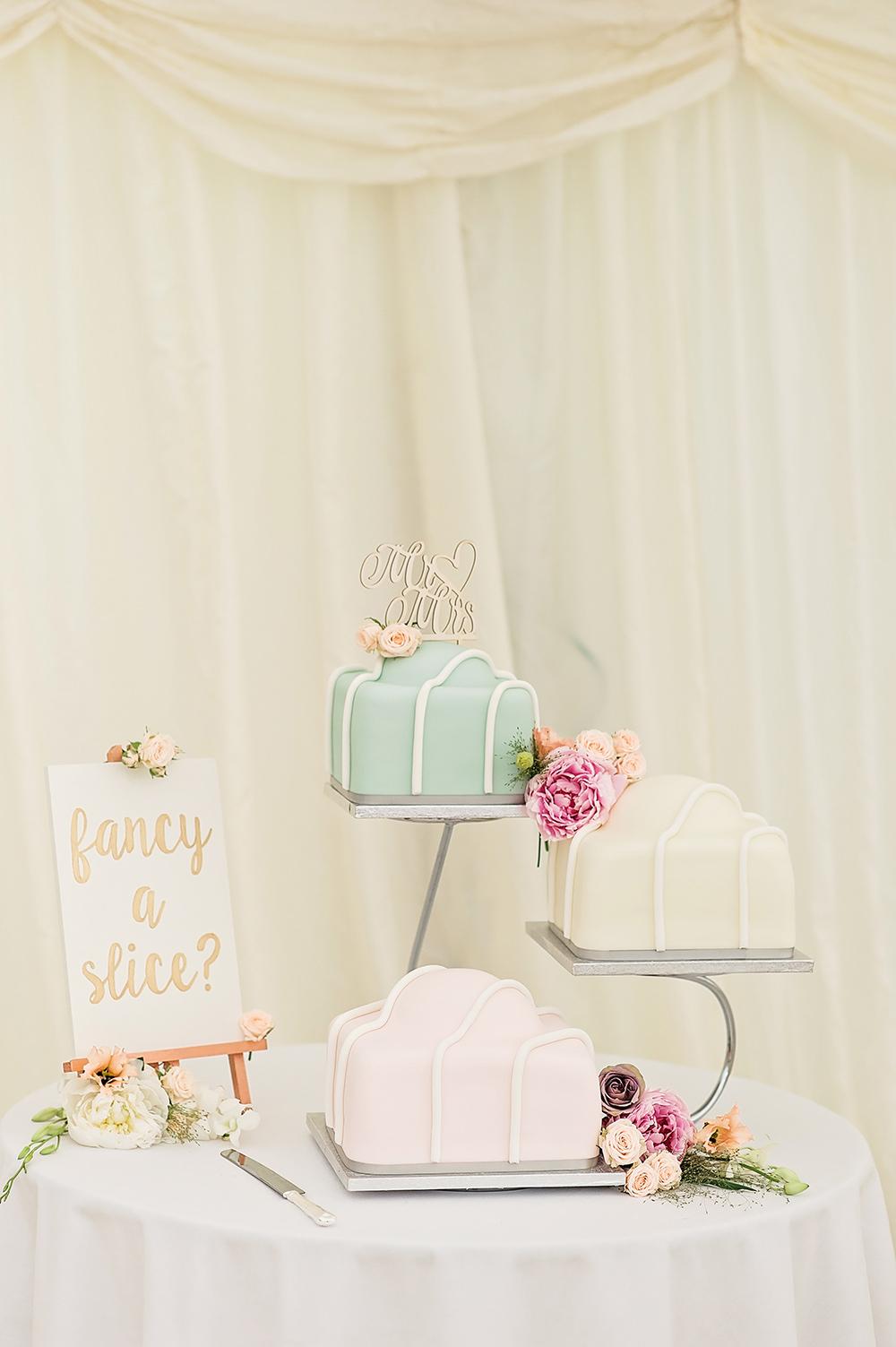 French Fancy Cake Slice Fancy A slice Edmondsham House Wedding Darima Frampton Photography