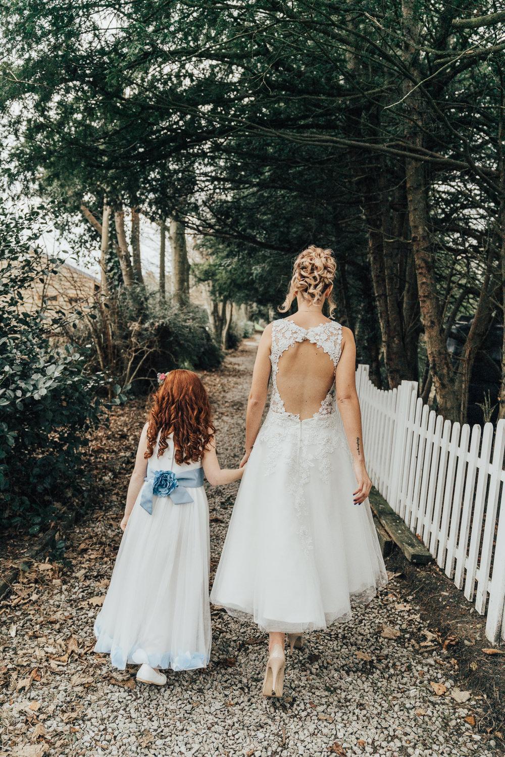Short Dress Bride Bridal Tea Length Gown Hoop Wedding Ideas Rebecca Carpenter Photography