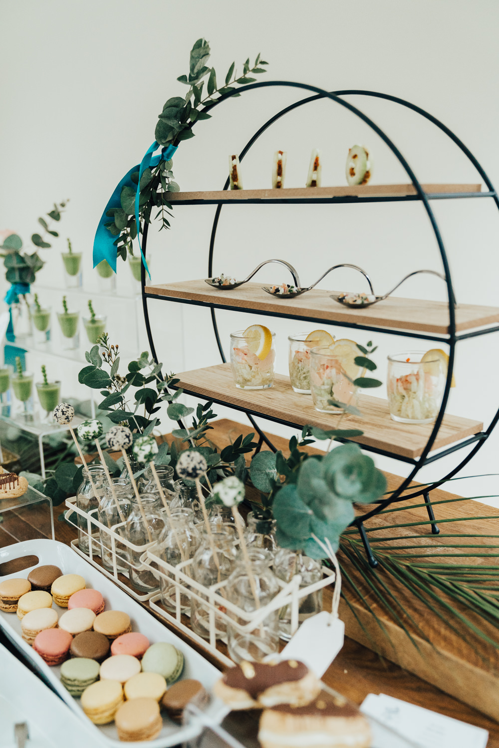 Food Bar Station Canapes Hoop Wedding Ideas Rebecca Carpenter Photography