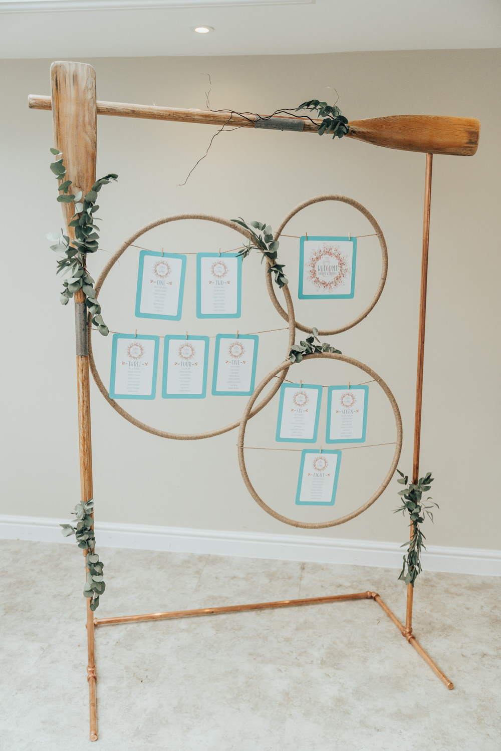 Wooden Frame Seating Plan Table Chart Hanging Suspended Hoop Wedding Ideas Rebecca Carpenter Photography