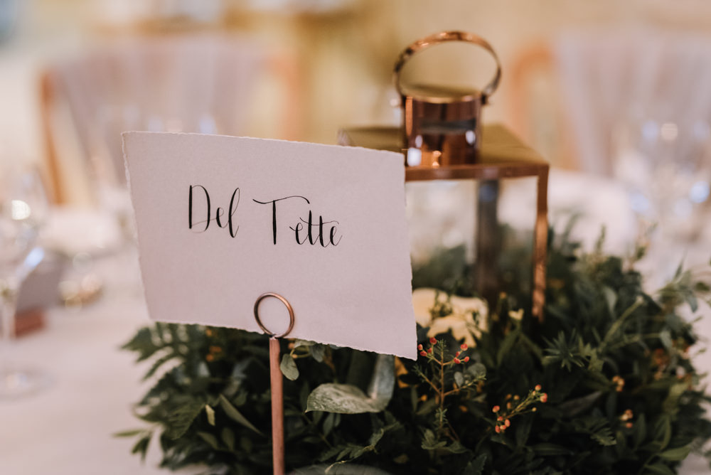 Calligraphy Table Name Kingscote Barn Wedding Oobaloos Photography