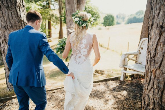 Bride Bridal Dress Gown Boho Lace Claire Pettibone Gardenia Bohemian Carefree Countryside Wedding Lush Imaging by Naomi