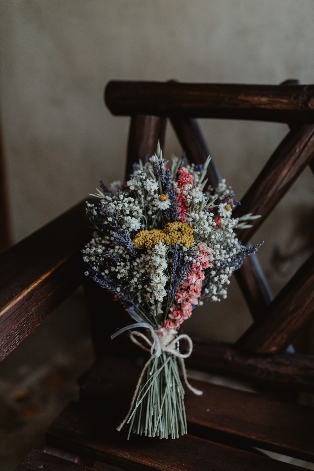 Dried Flowers Bouquet Bride Bridal Chilli Barn Wedding Stevie Jay Photography