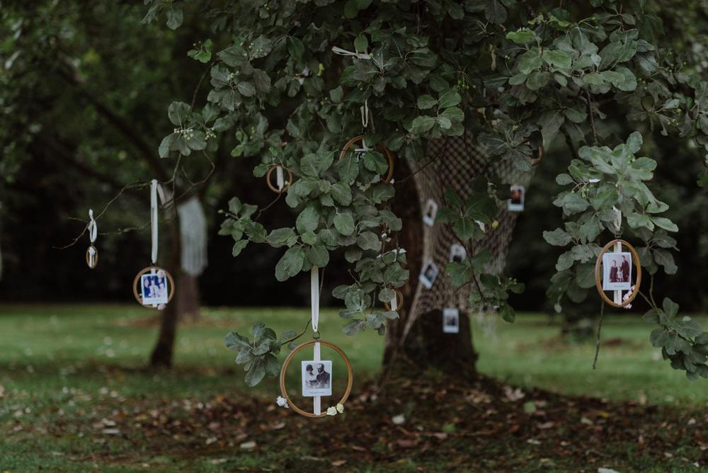 Hanging Tree Family Photographs Embroidery Hoops Felin Newydd House Wedding Christopherian.co.uk