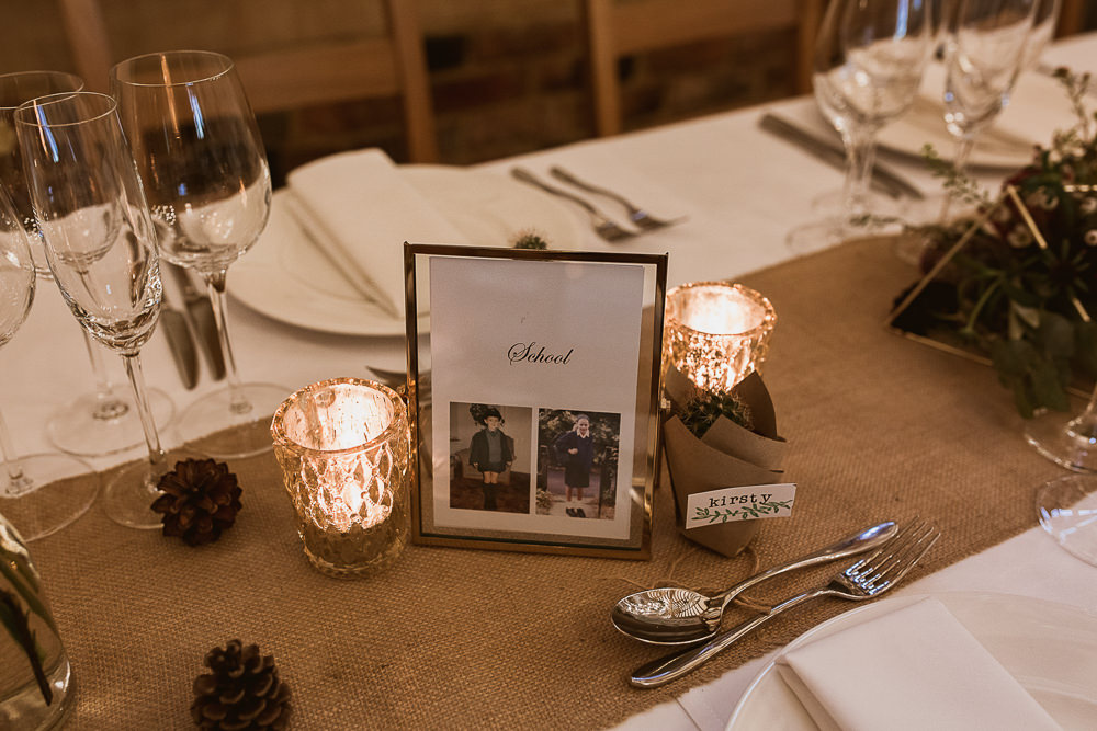 Clear Frame Table Name Gate Street Barn Wedding The Springles