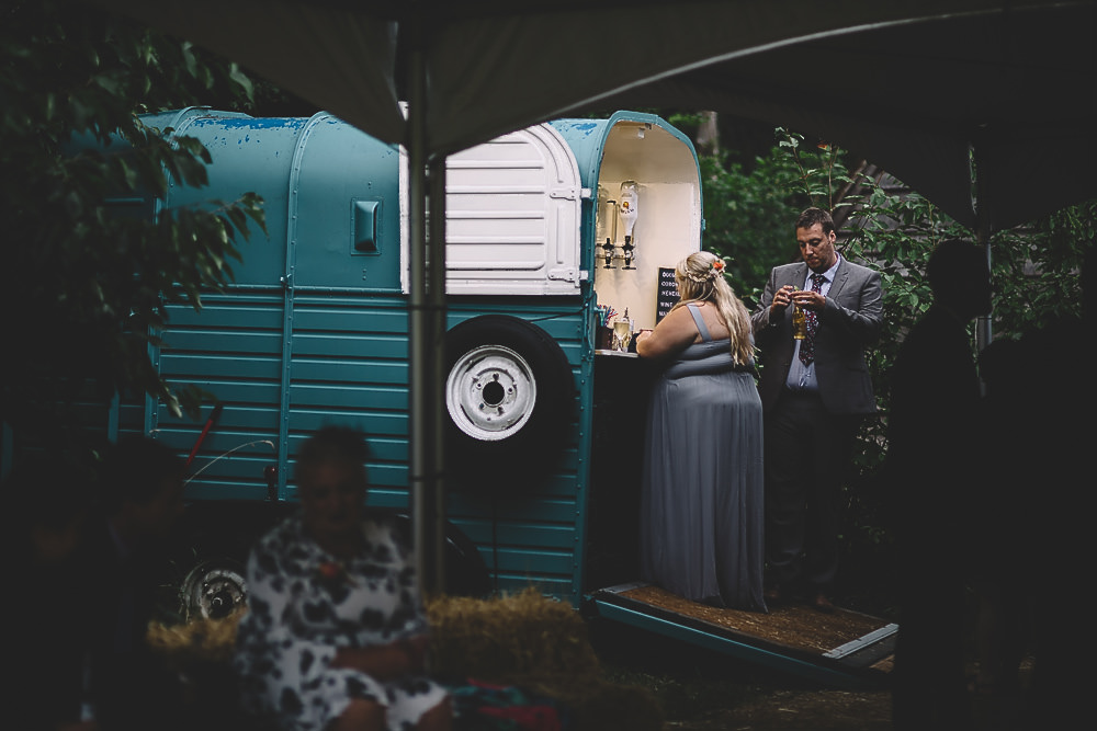 Horse Box Bar Truck Van Gilbert Whites House Barn Wedding Carrie Lavers Photography