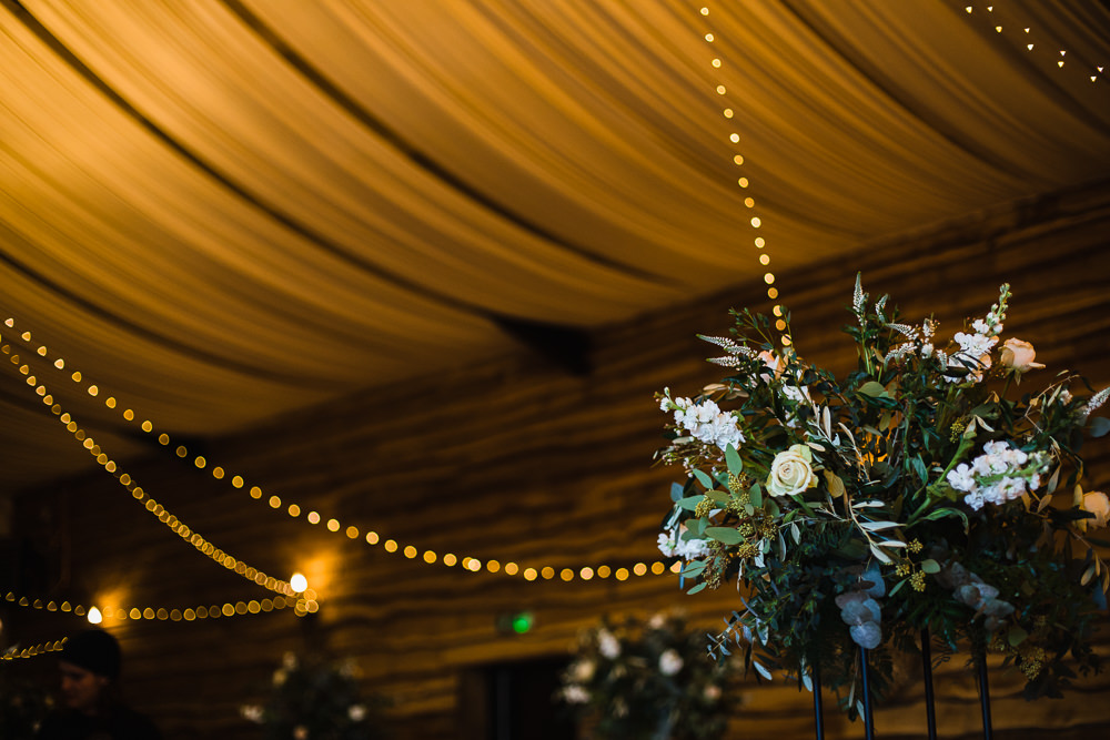 Raised Centrepiece Greenery Foliage Floral Hornington Manor Wedding Chris Barber Photography