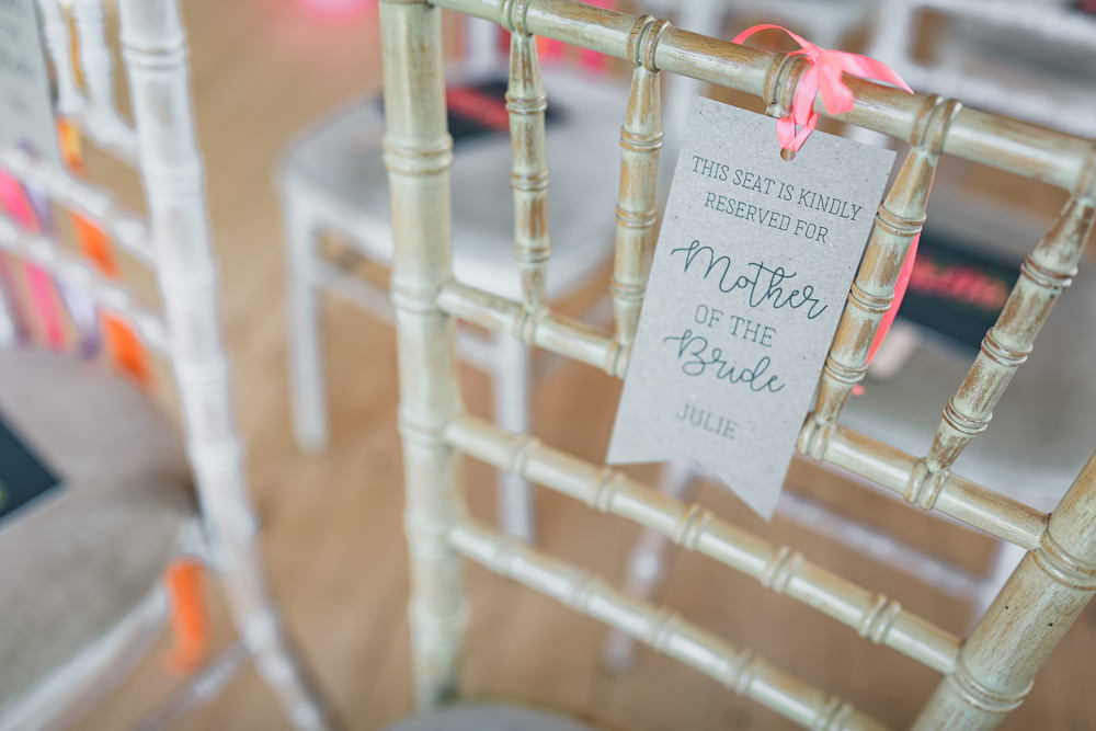 Chair Tags Reserved Seats Rock Village Hall Wedding Lucie Hamilton Photography