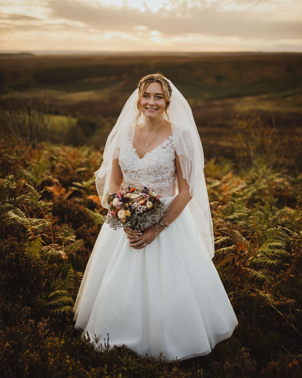 Dress Gown Bride Bridal Lace Tea Length Short Train Station Harry Potter Wedding Photography34