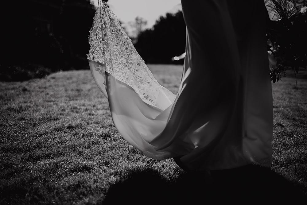 Lace Dress Gown Bride Bridal Train Blue Wedding Ideas Emma McNair Photography