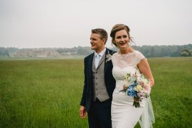 Dress Gown Bride Bridal Lace Top Holkham Hall Wedding Luis Holden Photography