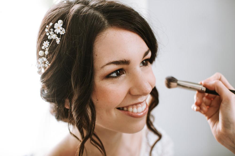 Hair Vine Bride Bridal Up Do Loose Curl Portugal Destination Wedding Ana Parker Photography