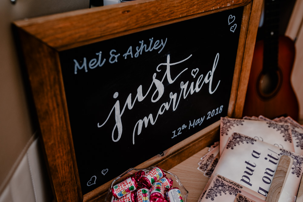 Chalk Black Board Sign Rustic Barn Wedding Louise Griffin Photography