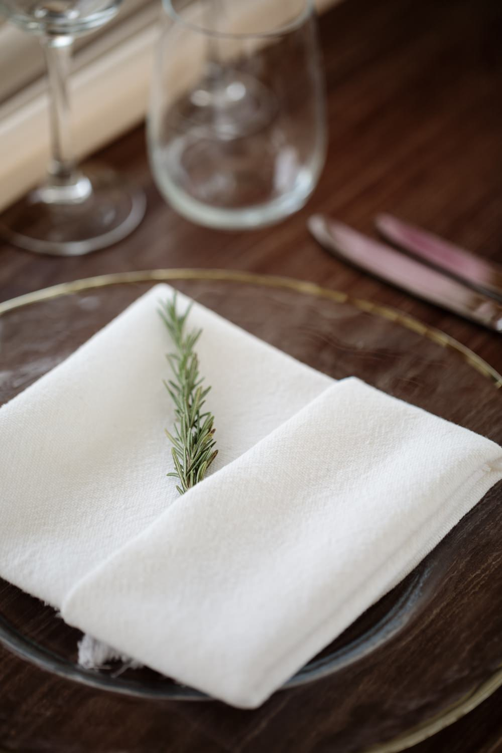 Rosemary Place Setting Los Cabos Wedding Anna Gomes Photo