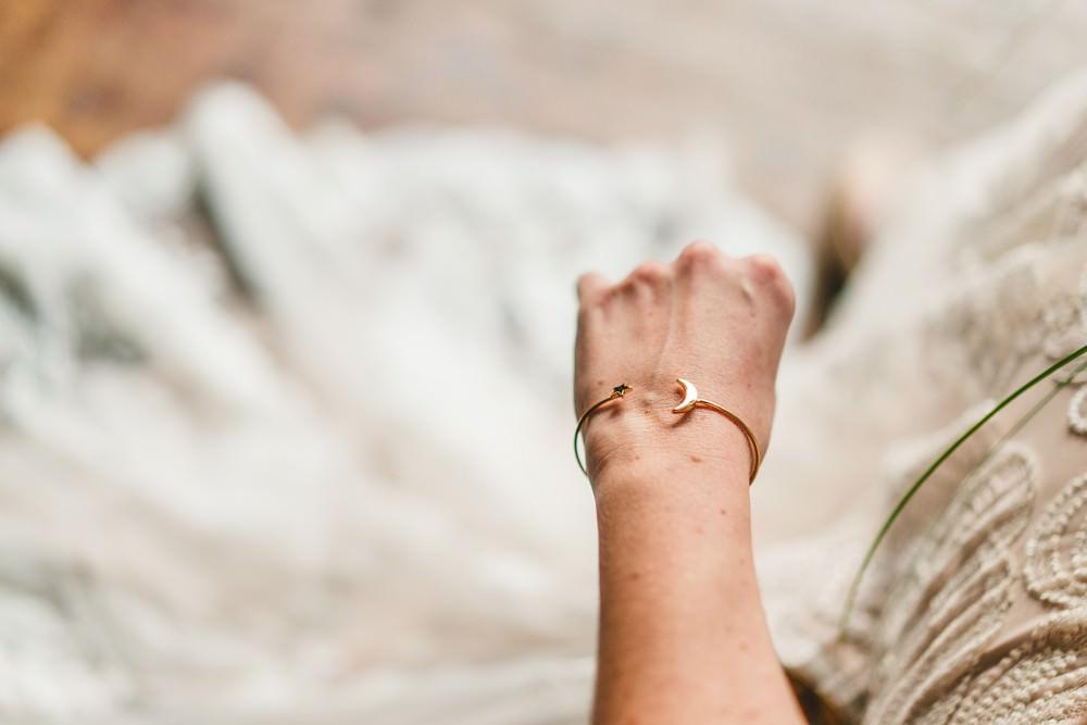 Bracelet Bride Bridal Celestial Star Moon Accessory Pampas Grass Wedding Ideas Tim Stephenson Photography