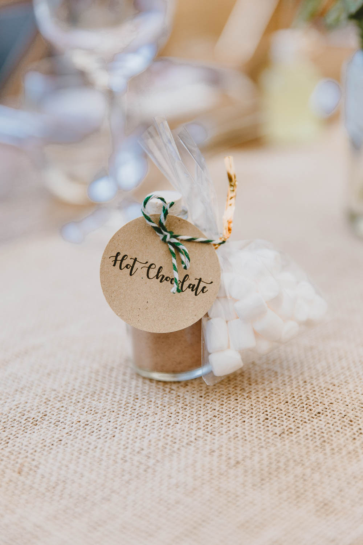 Hot Chocolate Favour Trevenna Barns Wedding Wild Tide Creative