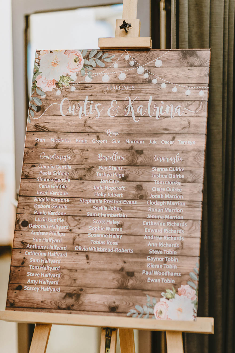 Wooden Rustic Seating Plan Table Chart Floral Trevenna Barns Wedding Wild Tide Creative
