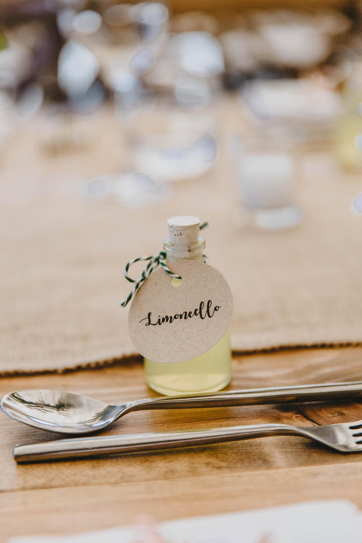 Limoncello Favours Trevenna Barns Wedding Wild Tide Creative