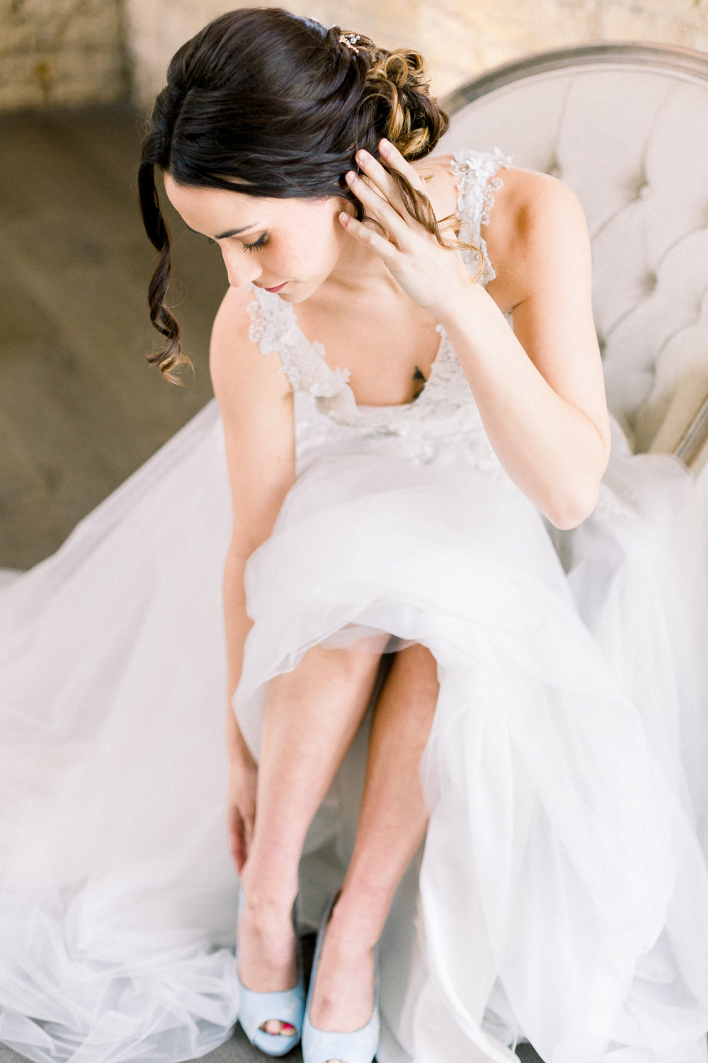 Shoes Bride Bridal Winter Blue Barn Wedding Ideas Joanna Briggs Photography