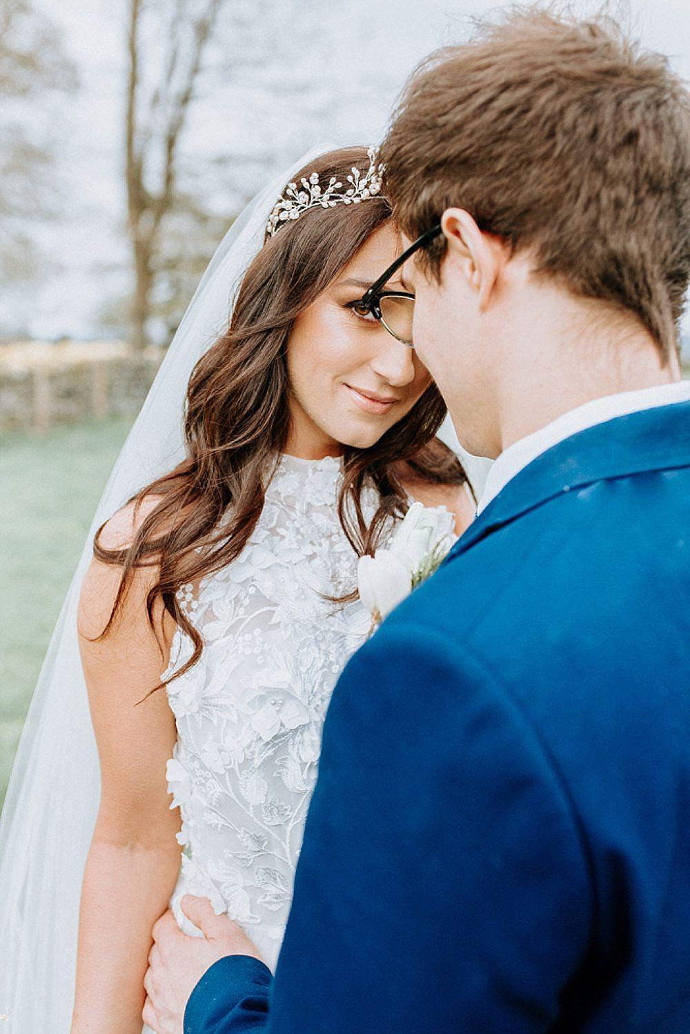 Bride Bridal Make Up Blue Gold Wedding Ideas Ailsa Reeve Photography