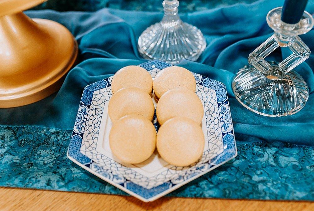 Macarons Blue Gold Wedding Ideas Ailsa Reeve Photography
