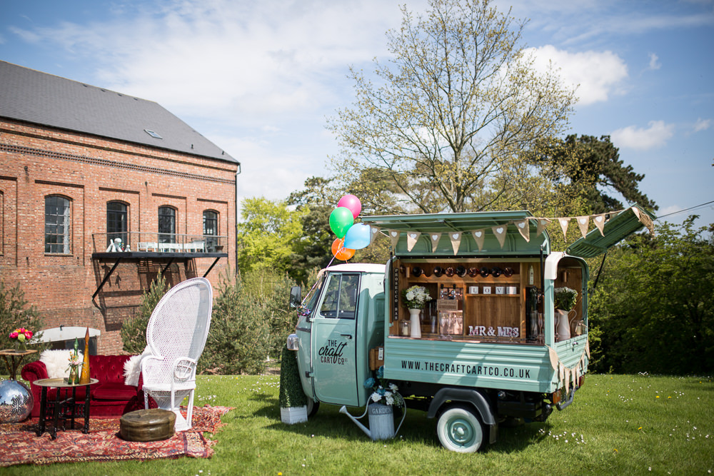 Mobile Bar Drinks Van Truck Colourful Balloons Wedding Ideas Florence Berry Photography