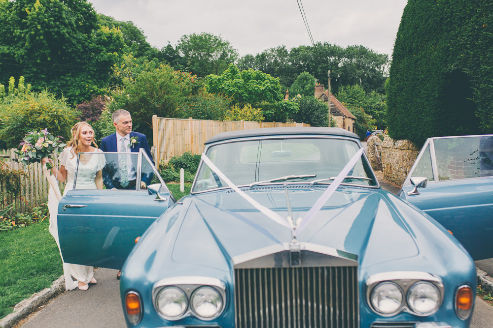 Classic Car Transport High Billinghurst Farm Wedding Larissa Joice Photography