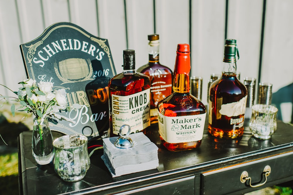 Drinks Bar Stand Station Maryland Wedding L. Hewitt Photography