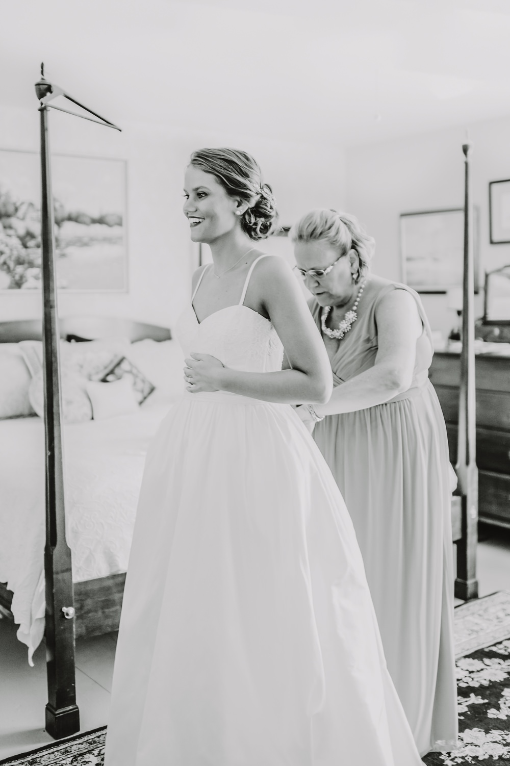 Dress Gown Bride Bridal Princess Straps Maryland Wedding L. Hewitt Photography