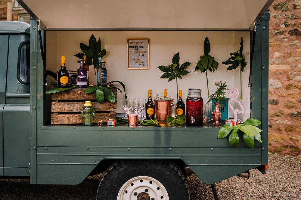 Mobile Bar Citroen Van Tropical Luxe Wedding Burfly Photography