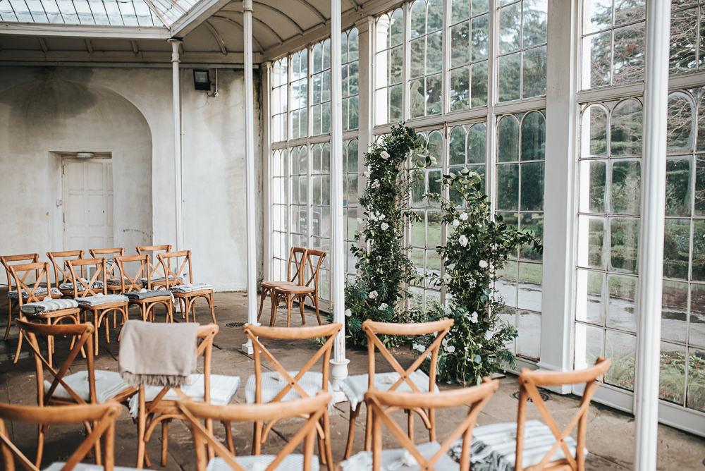 Cross Back Chairs Wollaton Hall Wedding Pear and Bear Photography