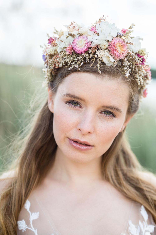 Bride Bridal Make Up Flower Crown Boho Beach Wedding Ideas Sarah Hoyle Photography