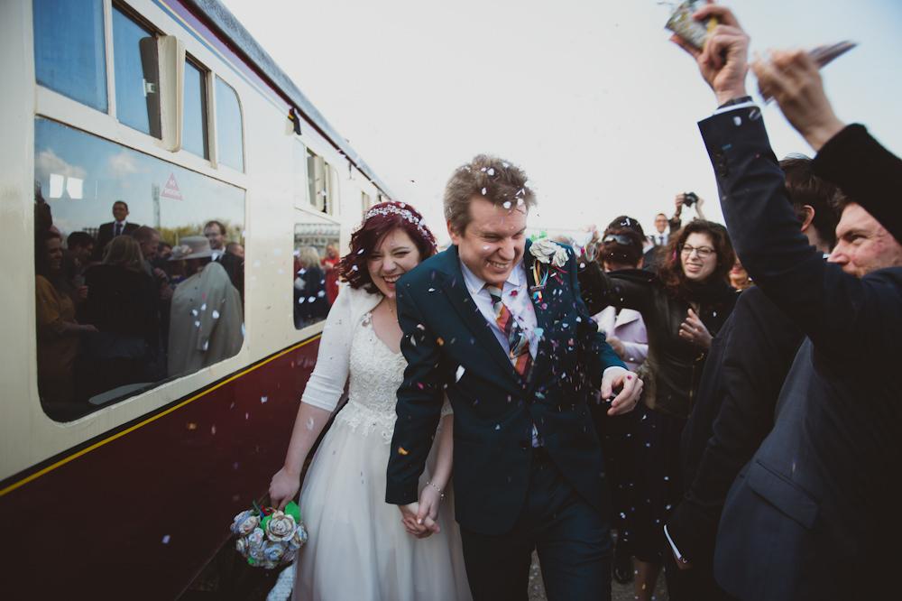 Confetti Buckinghamshire Railway Centre Wedding Sasha Weddings