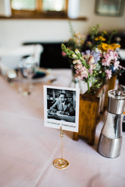 Table Name Physicist Polaroid Chaucer Barn Wedding Through The Woods We Ran