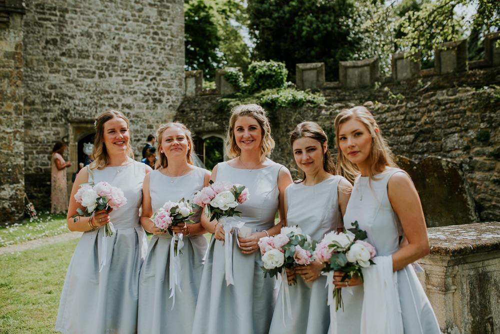 Bridesmaids Bridesmaid Dress Dresses Short DIY Village Hall Wedding PhotoBart
