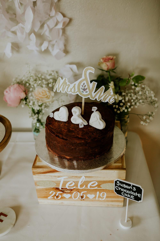 Fruit Cake Naked Topper DIY Village Hall Wedding PhotoBart