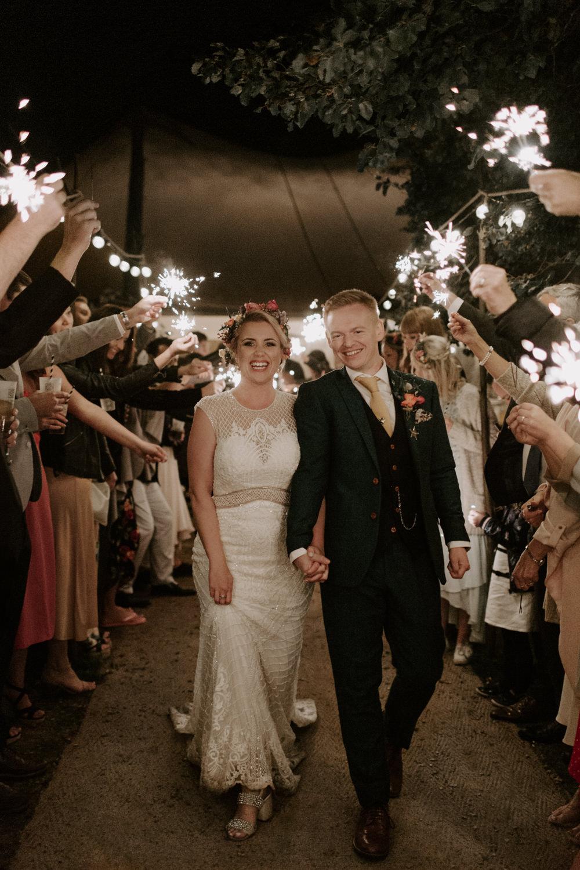 Sparkler Send Off Exit Dreys Wedding Grace & Mitch Photo & Film