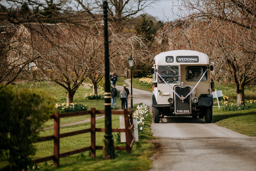 Vintage Bus Transport East Riddlesden Hall Wedding M and G Photographic