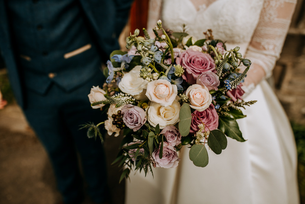 Bride Bridal Rose Bouquet East Riddlesden Hall Wedding M and G Photographic
