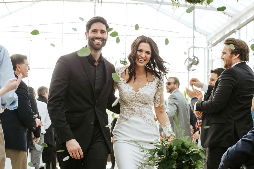 Leaf Confetti Greenhouse Michigan Wedding Jean Smith Photography