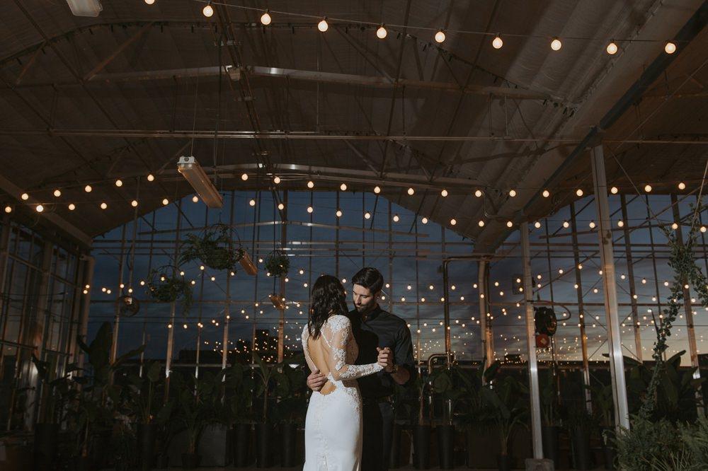 Festoon Lights Lighting Greenhouse Michigan Wedding Jean Smith Photography