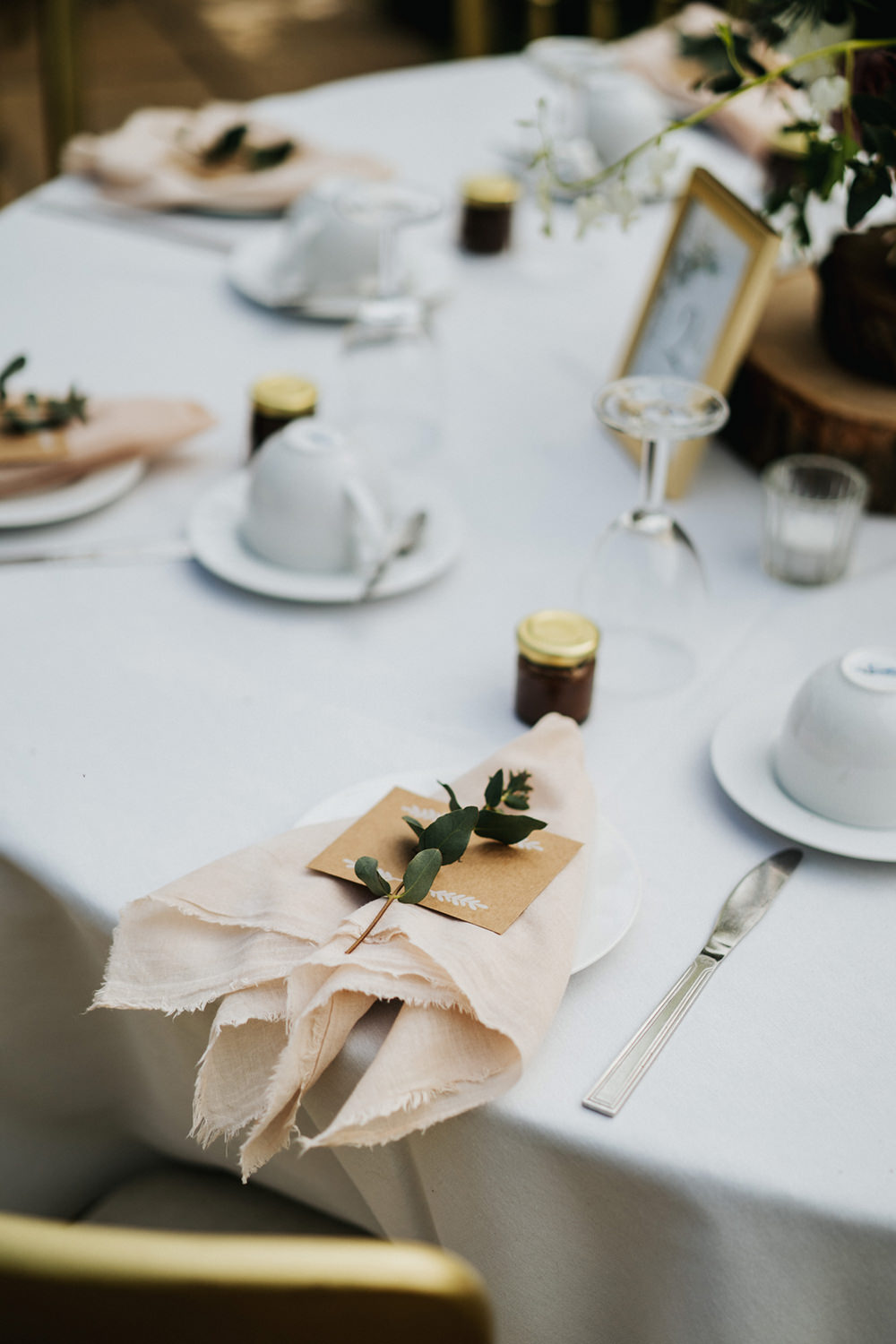 Napkins Blush Place Setting Decor Greenhouse Wedding Kit Myers Photography