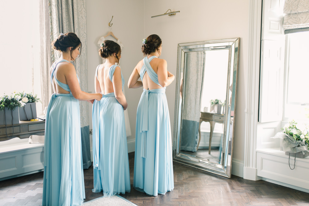 Blue Bridesmaid Dress Bridesmaids Dresses Multiway Saltmarshe Hall Wedding Jessica Davies Photography