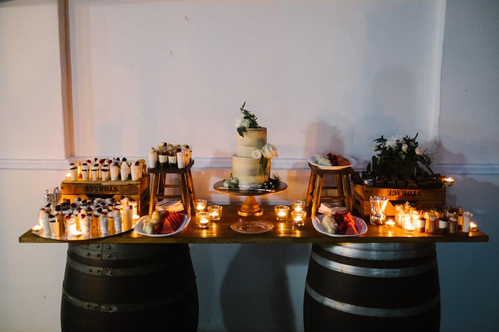 Cake Dessert Table Candles Spain Destination Wedding Jesus Caballero Photography