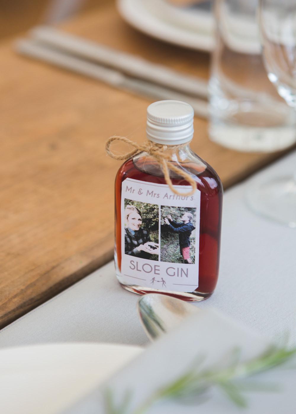 Sloe Gin Favours Airbnb Wedding Pickavance Weddings